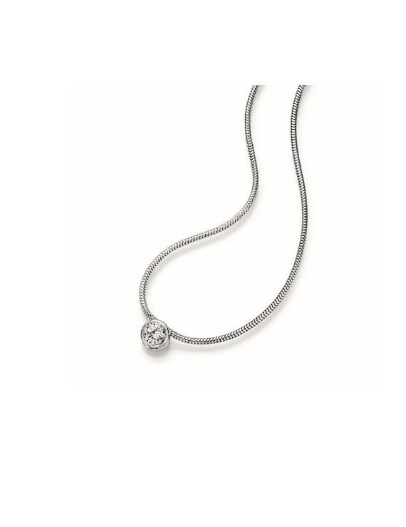 Collier in Gold 585 mit 0,5 ct. Brillant tw, si
