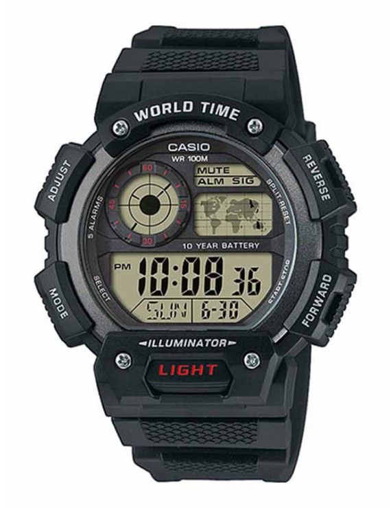 Casio Collection Weltzeituhr AE-1400WH-1AVEF